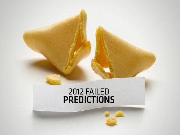 Predictions That Went Wrong in 2012