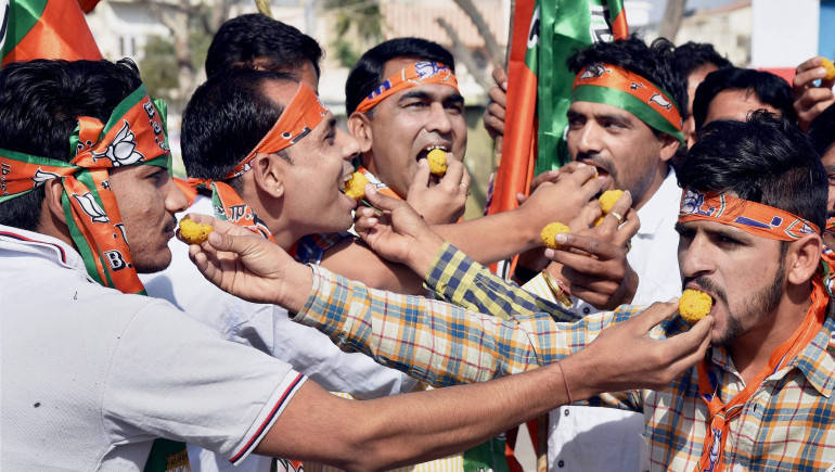Thumping victory in Uttar Pradesh! BJP supporters rejoice