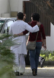 Rahul Gandhi (L), lawmaker and son of India's ruling Congress party chief Sonia Gandhi , walks with his sister Priyanka Gandhi Vadera after speaking to the media in New Delhi March 6, 2012. Rahul, the scion of India's Nehru-Gandhi dynasty, tried over the past year to project himself as a man of the people as he campaigned tirelessly for the ruling Congress party in Uttar Pradesh. However, the strategy did not work. Vote tallies last week gave Congress just 28 of the 403 seats at stake for the state's legislative assembly, a miserable fourth place. Picture taken March 6, 2012. To match Insight INDIA-GANDHI/ REUTERS/Stringer (INDIA - Tags: POLITICS ELECTIONS) - RTR2Z6SP