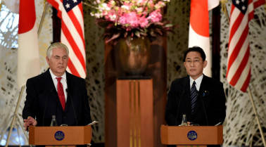 Military action against North Korea 'on the table', says US