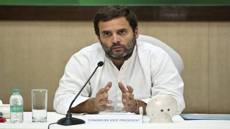 New Delhi: Congress Vice President Rahul Gandhi at Congress Working Committee meeting at AICC HQ in New Delhi on Monday. PTI Photo (PTI11_7_2016_000363B)