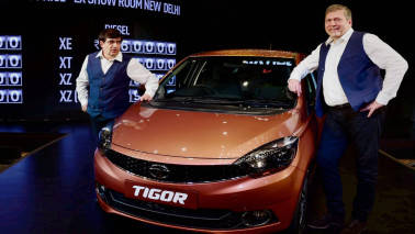 Tata Motors lauches compact sedan Tigor in Rajasthan