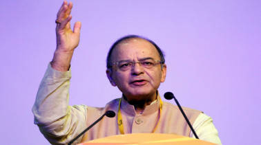 Arun Jaitley briefs MPs about GST bills introduced in Lok Sabha