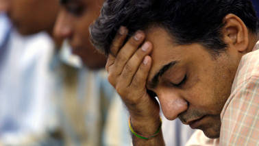 Weak global cues, trade deficit drag Sensex 181 pts; metals, pharma stocks dip