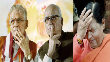Babri Masjid case: LK Advani, Murli Manohar Joshi, Uma Bharti in court today for framing of charges