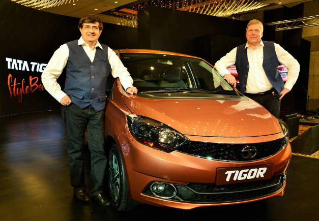 Image 1 – Tata Motors launches India's first Styleback- Tata Tigor. (L t...