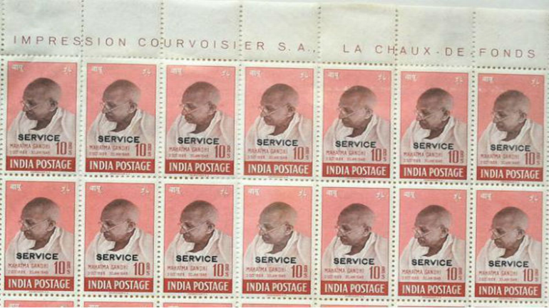 Mahatma Gandhi stamps sold at 500,000 pounds at auction in UK