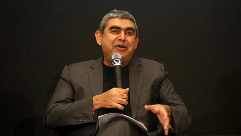 Vishal Sikka showcases Infosys' indigenous 'driverless' cart