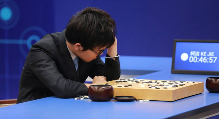 AI system beats world champion in ancient board game of Go