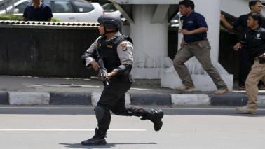 Indonesia police says two explosions in east Jakarta near bus station