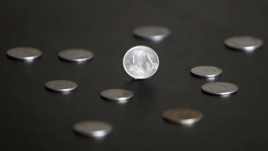 Indian rupee pares gains against dollar, closes lower at 64.16