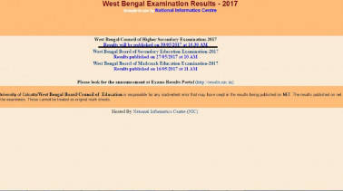 West Bengal Board WBCHSE HS Result 2017 to be declared today at 10.30 am; check on wbresults.nic.in
