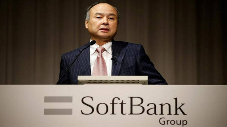 Corp Chairman and CEO Masayoshi Son attends a news conference in Tokyo Japan