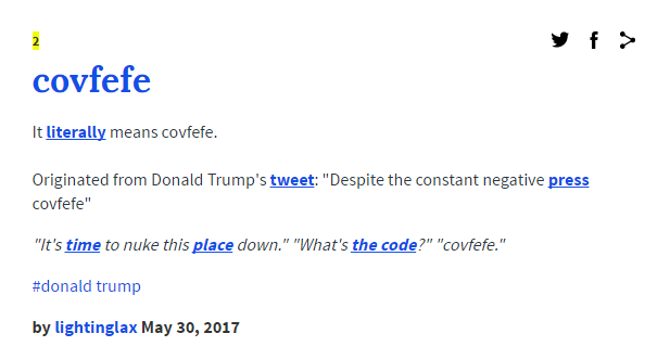 The #covfefe conundrum: Donald Trump does it again