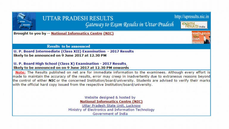 UP 10th Result 2017 to be Declared on upresults.nic.in Today