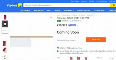 One-off Sale: Xiaomi Redmi Note 4 to go on sale on Flipkart on Sunday
