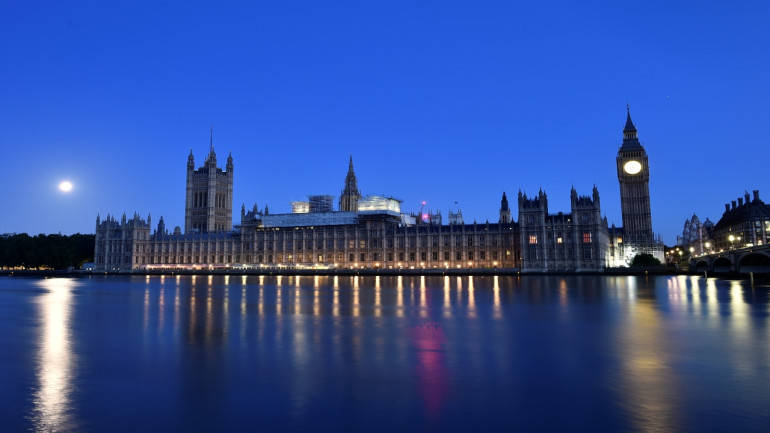 Man with knife arrested outside UK parliament: Police