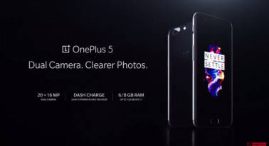 OnePlus 5 launched with dual rear cameras, 6GB/8GB RAM: Specifications, price and more