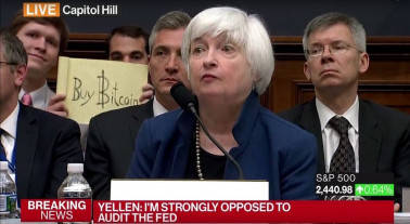 'Buy Bitcoin' sign guy gets $11,000 from crypto-community for photobombing Janet Yellen