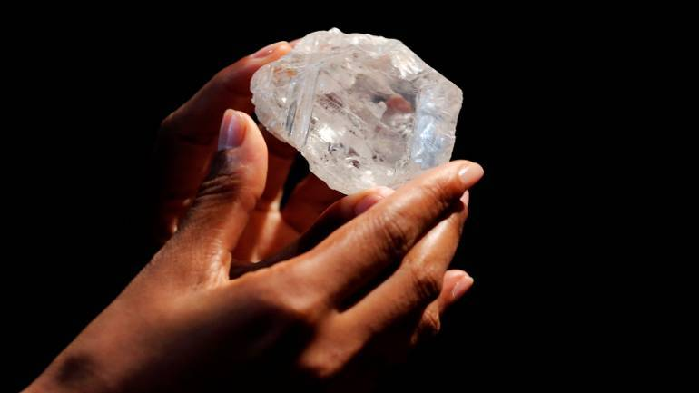 World s second largest diamond  size of a tennis ball  sold for Rs 348. World s second largest diamond  size of a tennis ball  sold for Rs