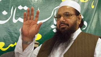 Freed Pakistani militant Hafiz Saeed rails against India, ex-PM Sharif