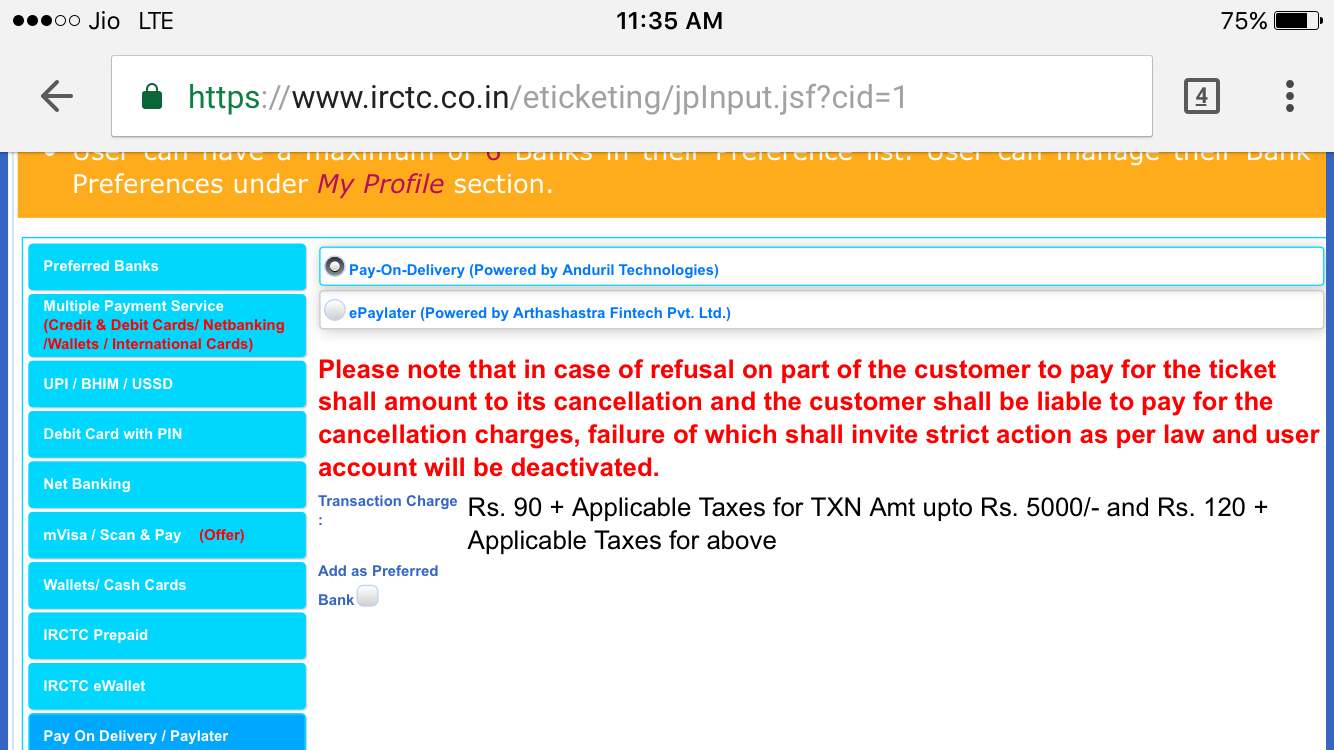 Booking tatkal railway tickets now easy under irctc 39 s for Book now pay later flights