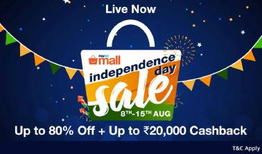 Paytm Mall joins the sale bandwagon with Independence Day offers