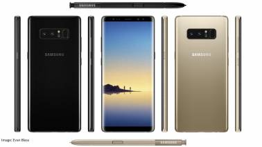 Samsung's new model Galaxy Note 8 'accidentally' revealed on company website