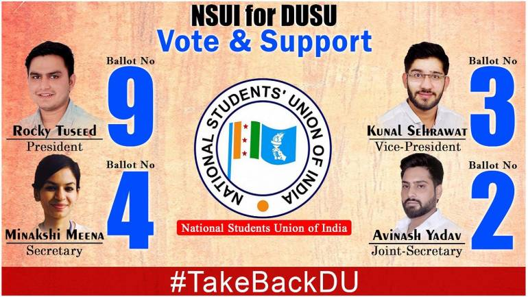DUSU elections: Setback for BJP-affiliated ABVP, Congress-backed NSUI emerges on top