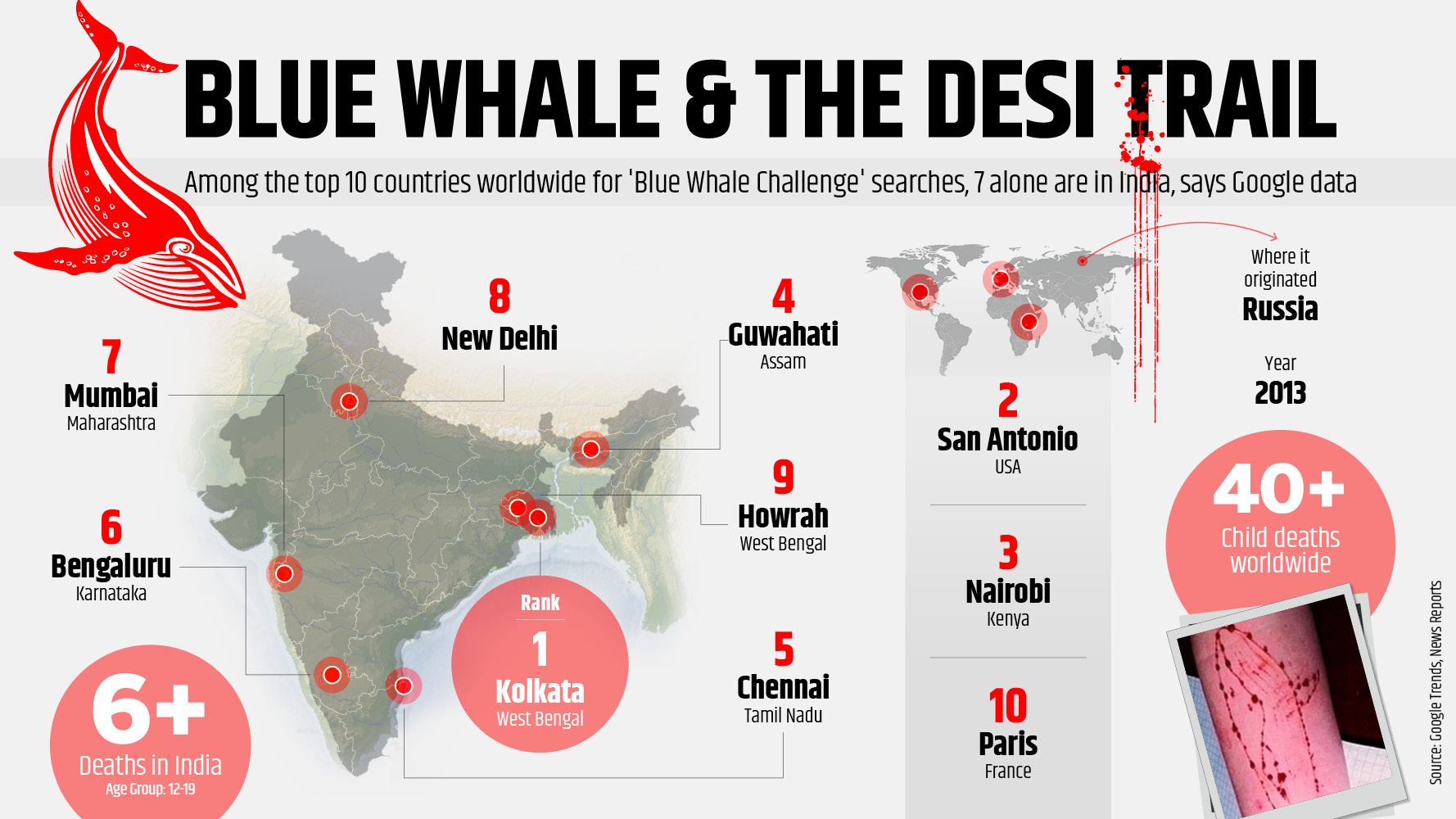 Blue Whale Google search infographic