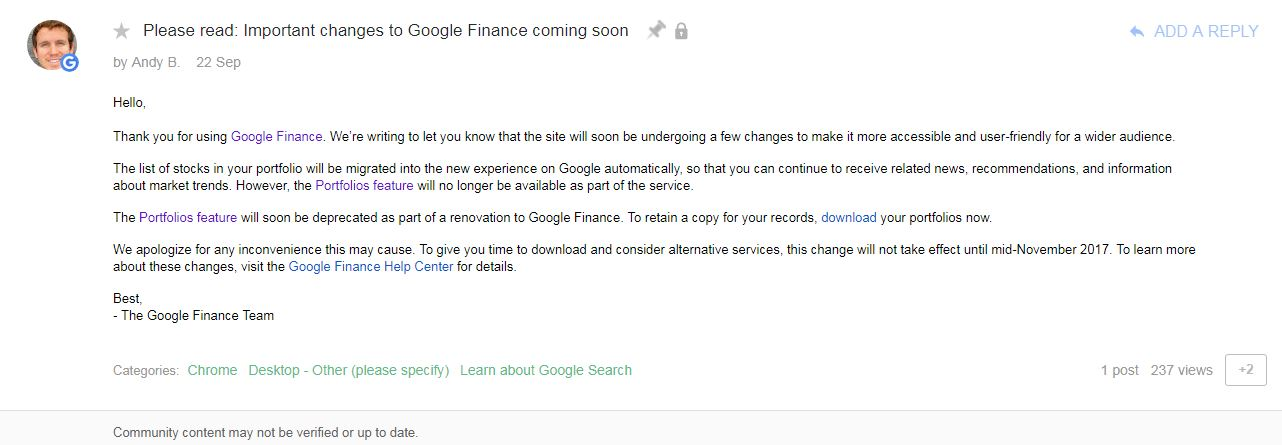 Google Finance to have a makeover, portfolio feature to be