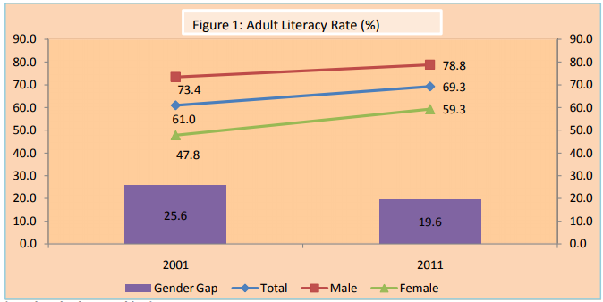 DATA STORY: Girls are fast gaining on boys in literacy and
