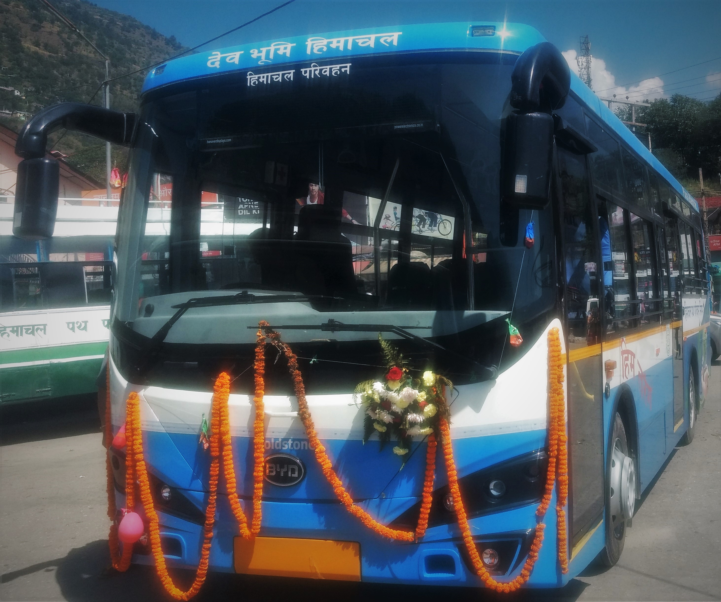 Goldtsone Infratech's Electric Bus running under Himachal Roadways Transport Corporation (2)