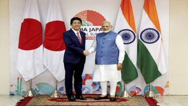 PM Modi congratulates Shinzo Abe on re-election
