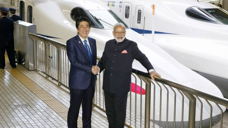 Modi faces fire as he launches bullet train project