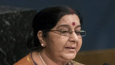 Sushma Swaraj opens India's new chancery complex in Dhaka