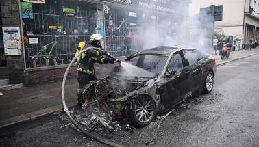 Stationary car explodes because of an air freshener