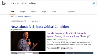 After Google, Microsoft's Bing introduces fact check in search results to fight fake news