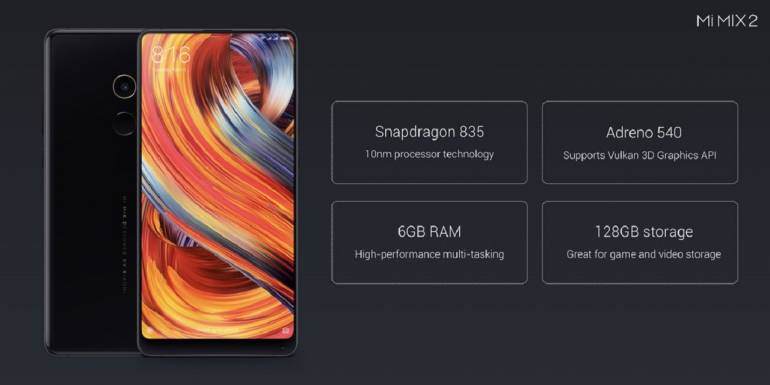 Xiaomi launches bezel-less Mi MIX 2 with 6GB RAM, 128 GB storage in India at Rs 35,999