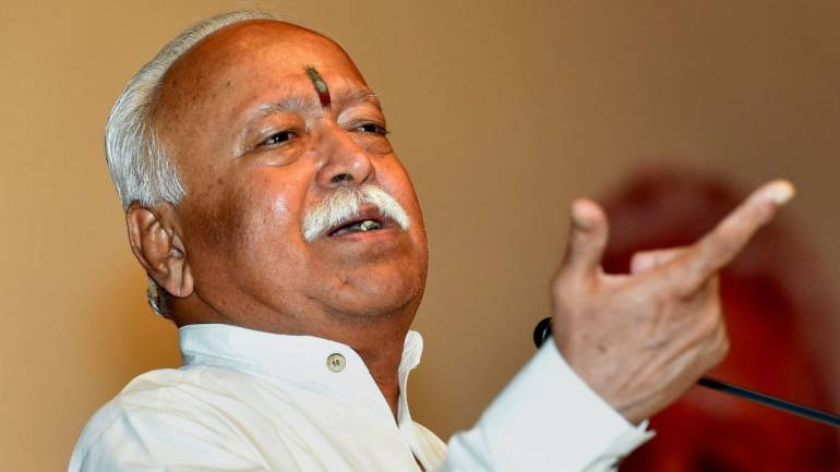 RSS chief shares views on cow protection, Rohingya Muslims with top govt officials, corporates