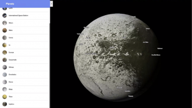 Grab your spacesuit and explore planets and moons in Google Maps