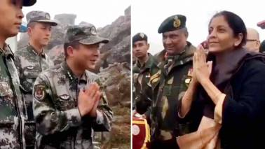 Defence Minister teaches 'Namaste' to PLA soldiers in Nathu La