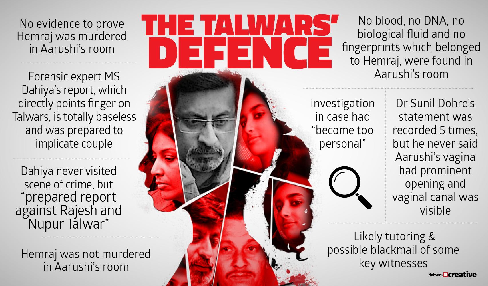 aarushi talwar murder Talwar defence