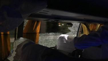 Security scare after fans hurl bricks at Australia team bus