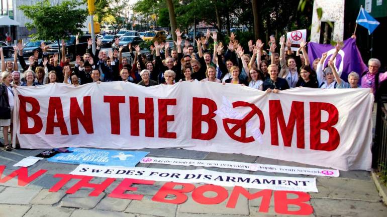 2017 Nobel Peace Prize awarded to anti-nuclear weapons organisation ICAN