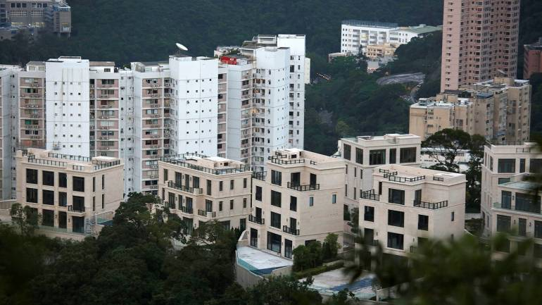 A general view of Mount Nicholson project developed by Wheelock and Company, with one of the four-bedroom houses sold for HK$1.16 billion