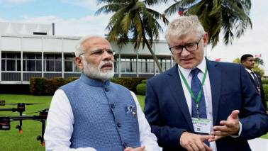 PM Modi visits IRRI, contributes two Indian rice seed varieties to its gene bank