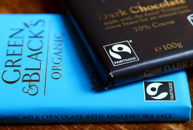 Green and Black's chocolate bars are seen in a photo illustration in London, Britain August 24, 2017. Picture taken August 24, 2017. REUTERS/Neil Hall - RC113C13A510