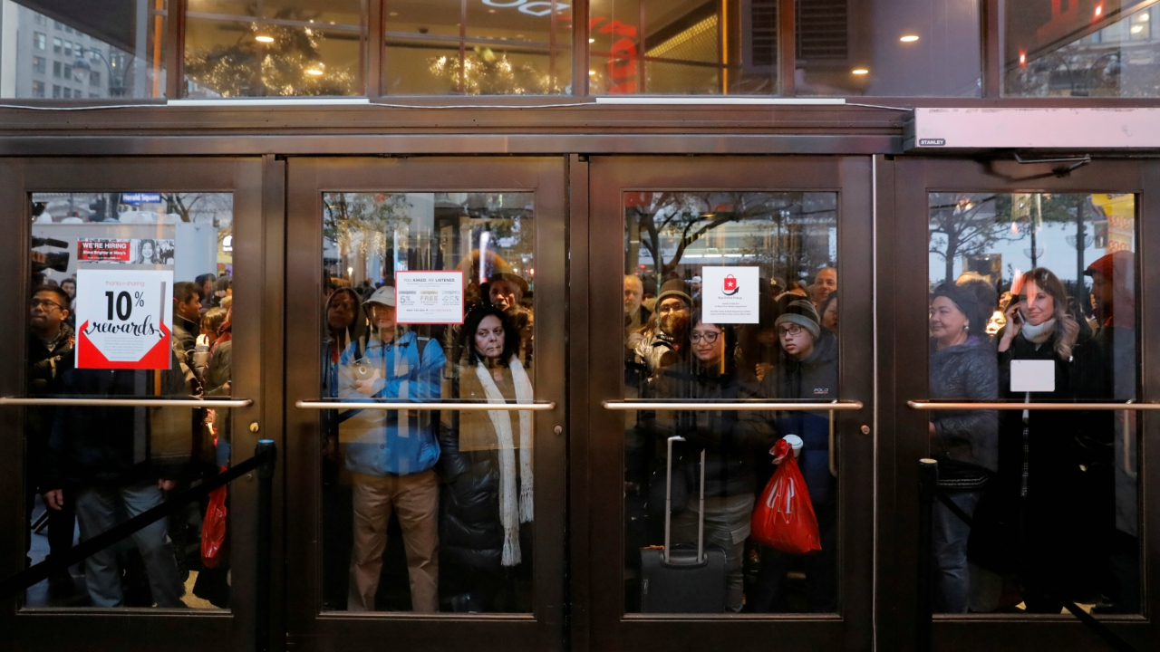 Black Friday shopping frenzy begins — here's a glimpse
