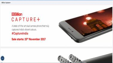 Flipkart to launch its own Billion Capture+ smartphone on November 15